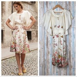 Anthropologie 2 Butterfly Silk Road Ahead Dress